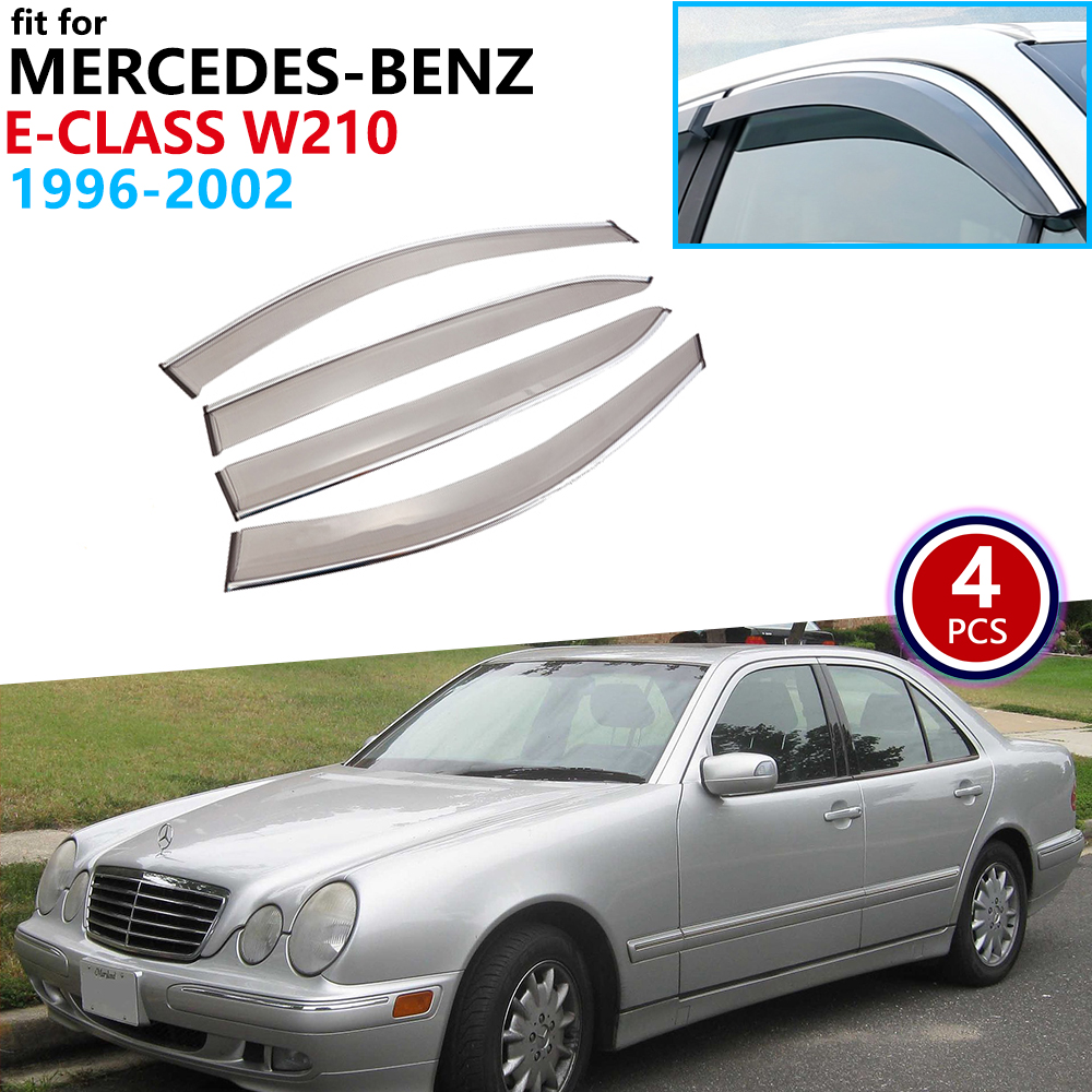 for <font><b>Mercedes</b></font>-Benz E-Class W210 <font><b>1996</b></font> 1997 1998 1999 2000 2001 2002 Window Visor Vent Awnings Rain Guard Deflector Car Accessories image