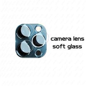 Image 5 - 100/10PCS vetro temperato HD/nero/bianco/idrogel acceso per Iphone 11 12 PRO MAX protezione dello schermo X XR XS MAX 6 7 8 Plus vetro dellobiettivo