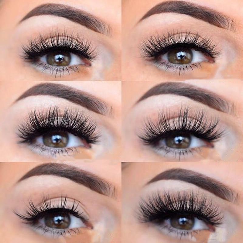 Natural Silk Eyelashes Fake Lashes Long Makeup 25mm Eyelashes For Beauty