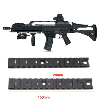6 Slots 13 Slots 20mm Tactical Picatinny Rail Mount for G36 Hunting Accessories Aluminum Scope Rifle Scope Mount Base 20mm rail aluminum alloy scope mount base for ak74 black