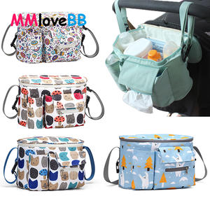 Bag Diaper-Bag Stroller-Accessories Nappy Organizer Baby-Carriage Hook Travel Waterproof