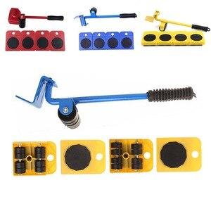 Image 4 - 5 Teile/satz Möbel Heber Sliders Kit Beruf Schwere Möbel Roller Bewegen Werkzeug Kit Rad Bar Mover Gerät Max Bis 100 kg/220Lbs