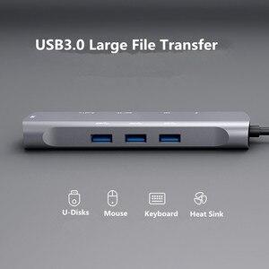 Image 2 - USB C HUB to hdmi hub adapter type c to vga RJ45 3.5mm AUX jack with SD TF PD jack usb3.1 hub for MacBook pro  USB C HUB