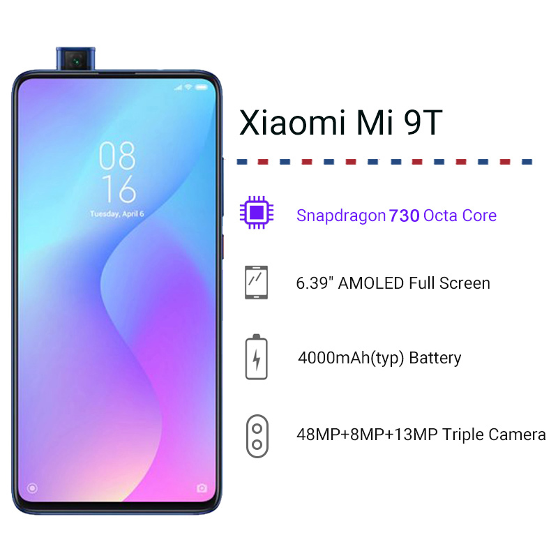Image 2 - Global Version Xiaomi Mi 9T 9 T 6GB 128GB Snapdragon 730 Octa Core 6.39 AMOLED 48MP Cameras 4000mAh NFC Smartphone-in Cellphones from Cellphones & Telecommunications