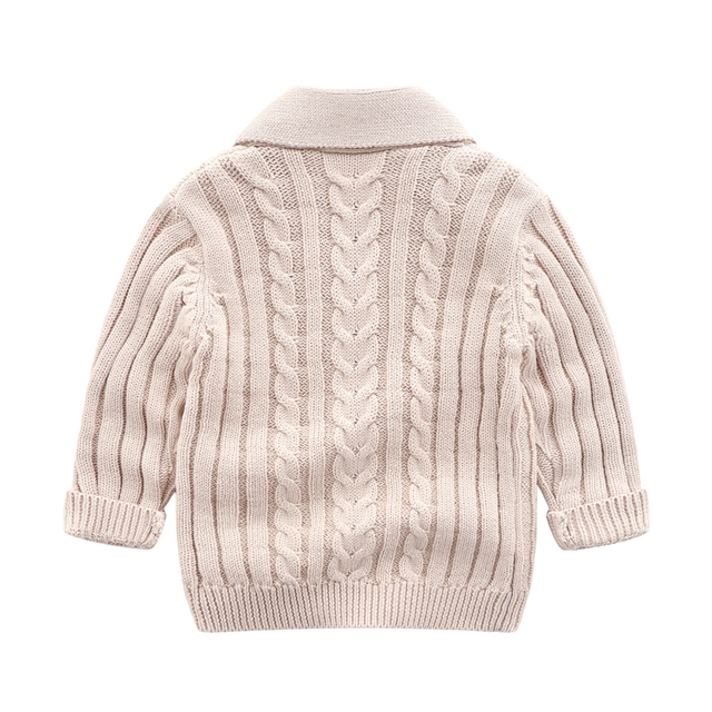 lioraitiin 0-3Years Autumn Winter Children Cardigan Coat Boy Girls Knitted Sweaters Cotton Baby Single-Breasted Jacket 5