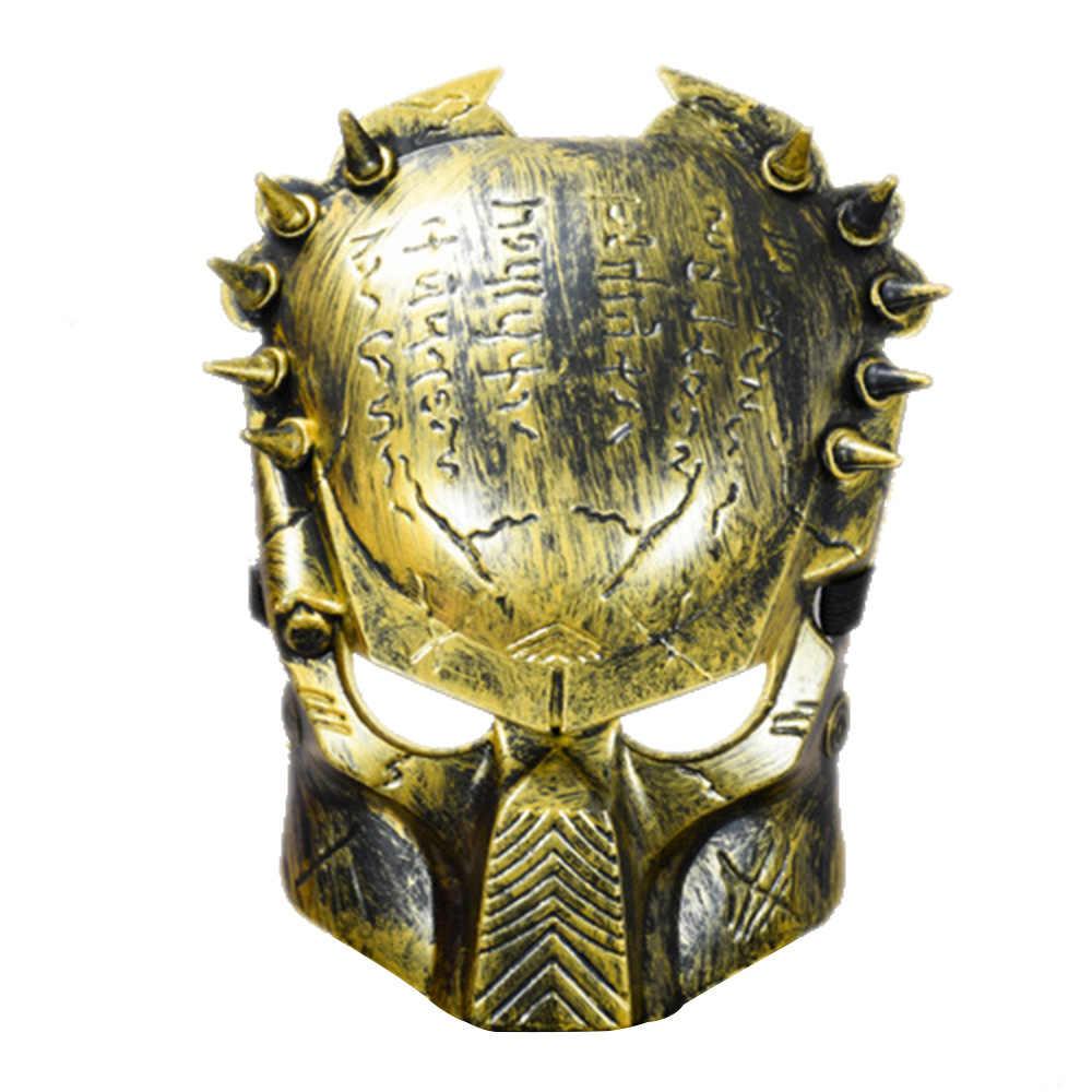 Predator Maschera di Orrore di Halloween Masquerade Fancy Dress Del Partito di Cosplay Costume Spaventoso Maschera di Halloween Oggetti di Scena Decorazione