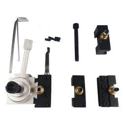 Zestaw zestaw akcesoriów ostrze zestaw świeczników stół narzędzie tokarki profesjonalne praktyczne szybka wymiana wielofunkcyjny ze stopu aluminium ze stopu aluminium w Części do narzędzi od Narzędzia na