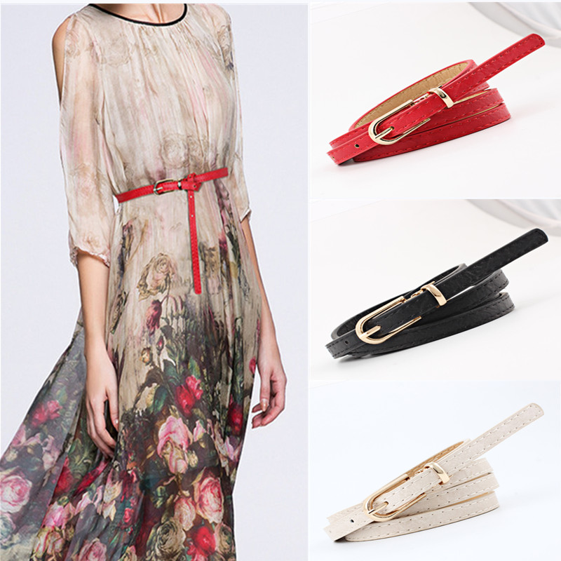 Women Apparel Accessories PU Leather Belts For 2019 Autumn Winter Fashion Dress Sweater Waist Strap Adjustable Ladies Waistbands