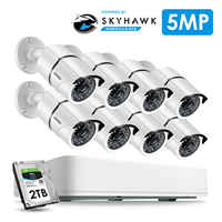 ZOSI 8CH HD 5.0MP H.265 + sistema de cámara de seguridad con 8x5 MP 2560*1920 exterior/interior cámara de vigilancia CCTV 2TB disco duro