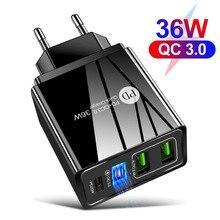PD 20W ricarica rapida QC3.0 QC USB tipo C caricabatterie a ricarica rapida per iPhone 12 Pro adattatore per telefono da parete Samsung Xiaomi Carregador