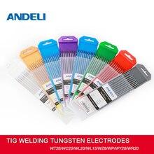 ANDELI – tiges de soudage Tig, électrodes en tungstène, 1.6/2.0/2.4/3.2mm WT20/WC20/WL20/WL15/WZ8/WP/WY20/WR20