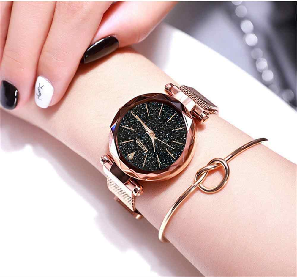 Magnetic luxo Starry Sky Mulheres Relógios feminino relogio Feminino Relógio de Quartzo Relógio de Pulso Moda Feminina Relógio de Pulso reloj mujer
