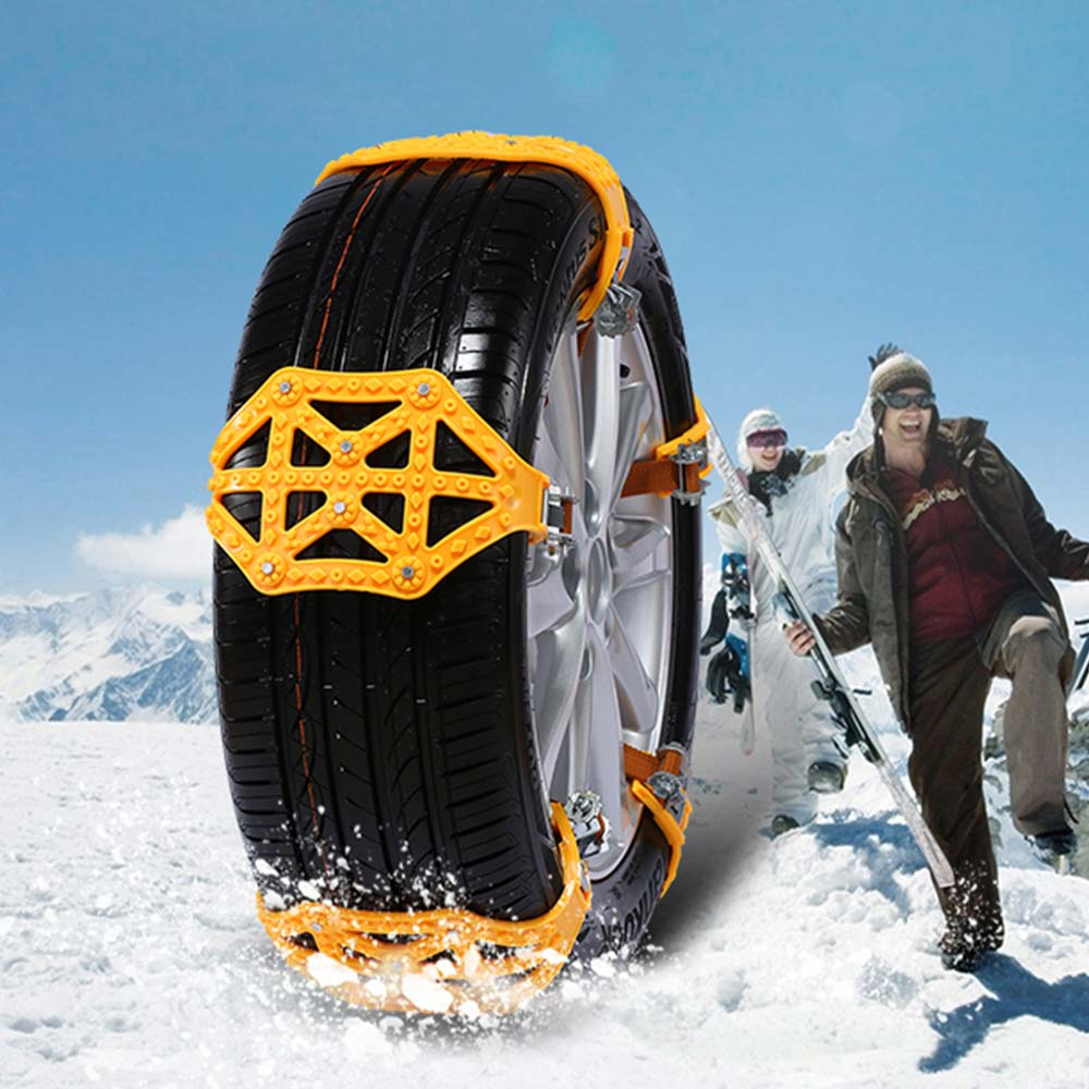 Chaînes antidérapantes de chaîne antidérapante de voiture de chaîne de neige de Vehemo TPU pour la glace d'hiver de camion pour la ceinture antidérapante