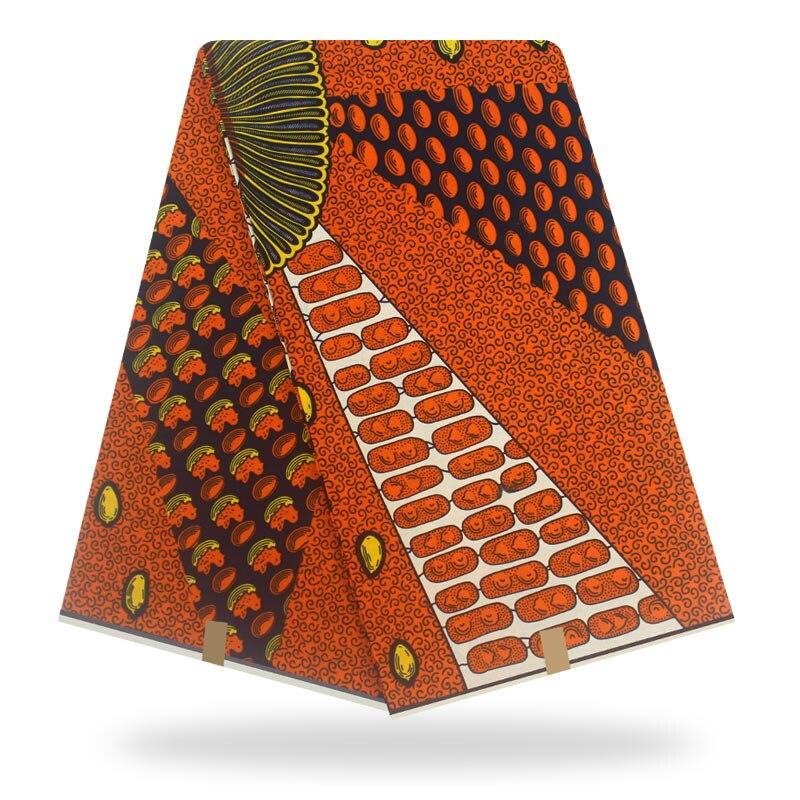 New 100% Cotton Original Real Print Wax Ankara Fabric 2019 African Fabric For Wedding Dress Material African Fabric Wax