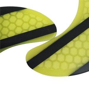 Image 5 - Surf Fcs 2 K2.1 Rear Fin Geel Glasvezel Quilhas Fcs Ii K2.1 Achter Vinnen Surf Board Quilhas Vinnen Fcsii Vinnen in Surfen