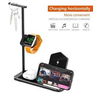 Image 5 - Iphone ワイヤレス充電器 3 1 でアルミ合金アップル時計 iwatch 1 2 3 4 5 airpods プロワイヤレス充電ドック