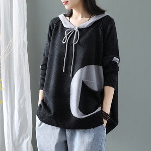 Image 2 - Max LuLu Winter Korean Fashion Fitness Jumper Ladies Thicken Punk Clothes Womens Hooded Cotton Knitted Sweater Vintage Pullovers