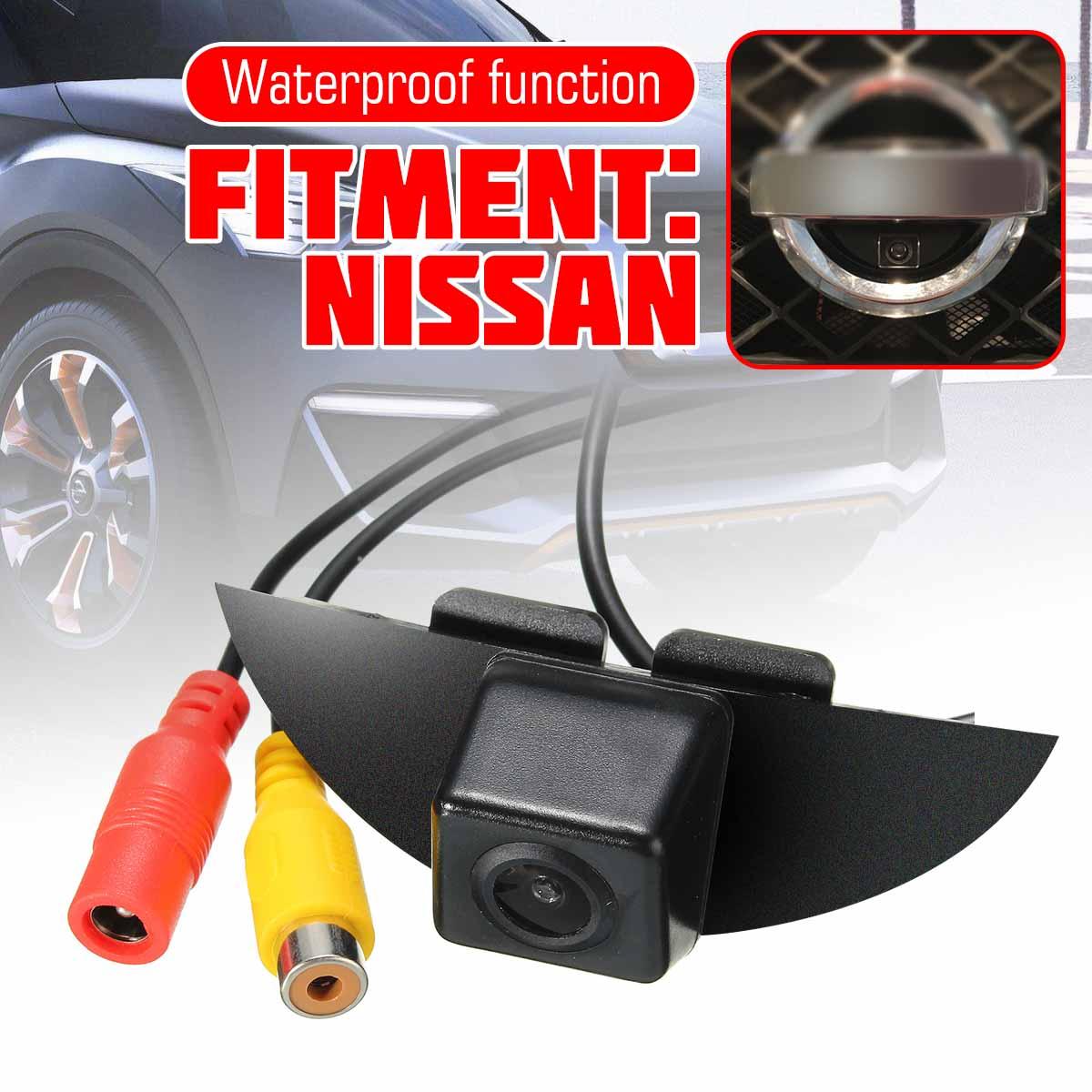 CCD Car Vehicle Front View Camera Logo IP68 For Nissan X-Trail Tiida Qashqai Livina Fairlady Pulsar Cube Armada Frontier Murano
