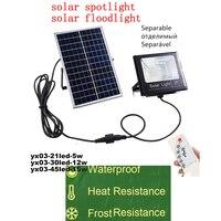 LED 태양 빛 전원 LED 태양 램프 패널 LEDip66 유도 야외 조명 정원 ABS 벽 램프 원격 타이머 분할 마운트