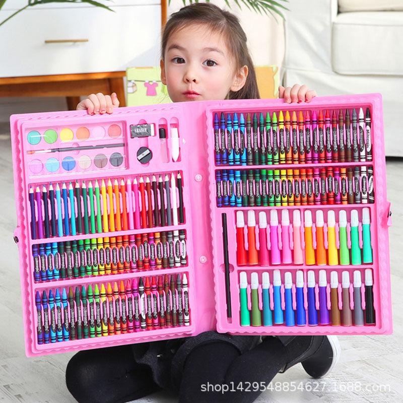 Color crayon watercolor pen set children's painting brush oil stick painting set 12 colors 24 colors 36 colors