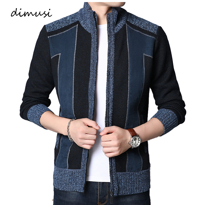 DIMUSI Autumn Winter Men's Pullover Sweaters Turtleneck Jackets Mens Casual Sweater Slim Fit Knitted Pullovers Brand Clothing