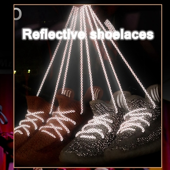 1Pair 3M Reflective Shoelaces Sneaker Shoelace Sport Shoelaces Round Rope Shoe Laces Length 100/120/140/160CM Shoelaces Strings 1pair lot 100