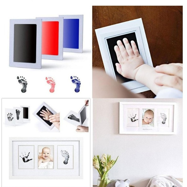 Baby Handprint Footprint Non-Toxic Newborn Imprint Hand Inkpad Watermark Infant Souvenirs Casting Clay Toys Gift Footprint Maker
