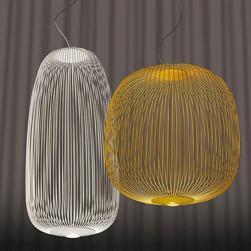 Foscarini Speichen Anhänger Lampe Moderne Vogel Käfig Led Anhänger Leuchten Wohnzimmer Esszimmer Home Decor Küche Hängen Lampen