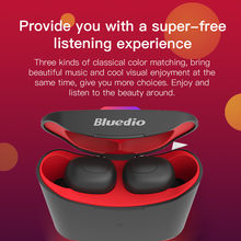 Bluedio T-elf Bluetooth 5.0 Sports Headset Wireless Earphone with charging box with mic(China)