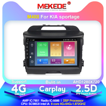 Android 10.0 arrival!Mekede Car Multimedia Player autoradio for KIA sportage 2011-2015 Built-in carplay DSP IPS 4G network image