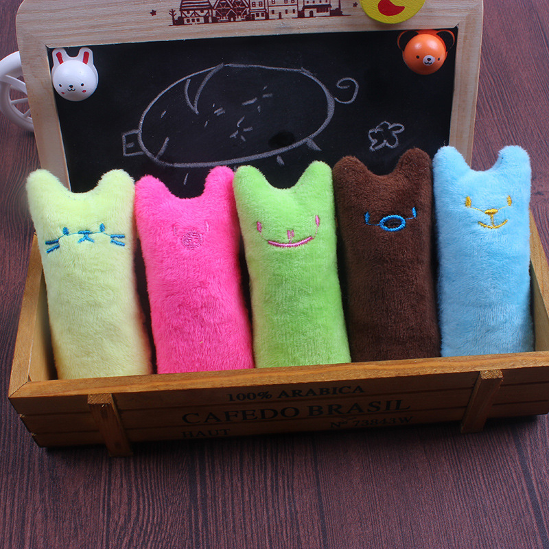 Catnip plush toy A durable little finger educational cat toy with bell paper inside. Interactive toy for kitten chewing