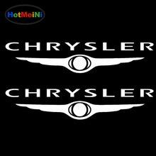 HotMeiNi 13*2,5 см набор из 2 виниловых автомобильных стикеров s логотип Chrysler стикер винил JDM наклейка для автомобиля аксессуары для укладки водонепроницаемый Декор