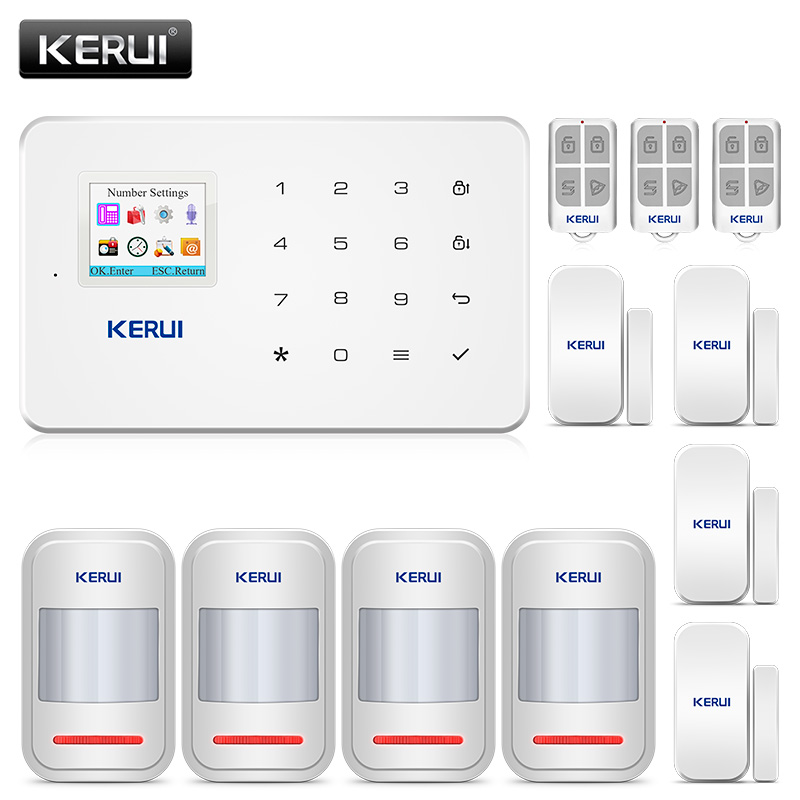 KERUI G18 Wireless GSM Home Security Alarm Systems Burglar Motion Detection Door Sensors Alarm System With Remote Control