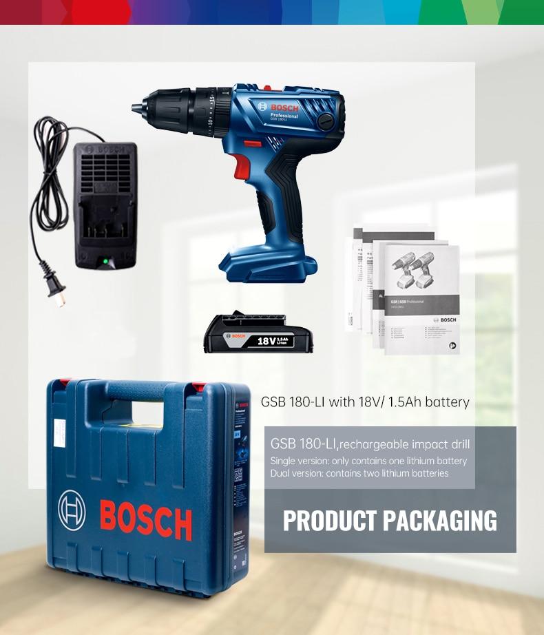 Bosch Cordless Electric Drill Driver 18V Max 50N.m Impact Driver LED