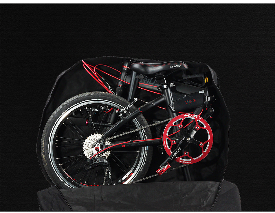 Top Rhinowalk 14 inch 20 inch Folding Bike Bag Loading Vehicle Carrying Bag Pouch Packed Car Thickened Portable Bicycle Pack 17