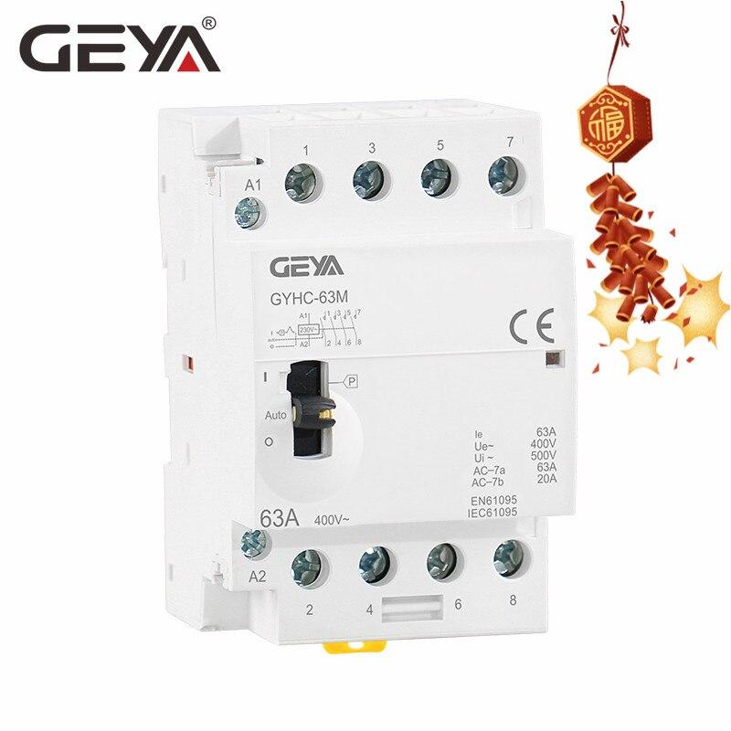Contactors GEYA Manual Control Household Contactor 4P 20A 2NO2NC ...