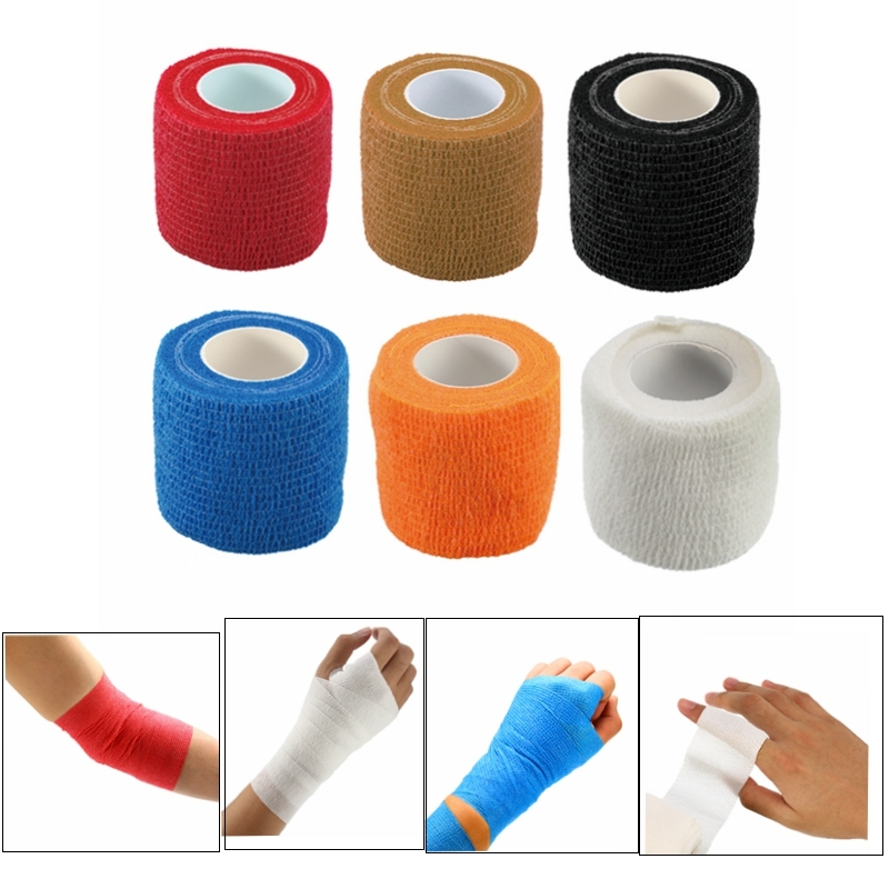 5 Pcs/lot Self-Adhesive Elastic Bandage Medical Health Care Treatment Gauze Tape Emergency Muscle Tape First Aid Tool 5cm*4.5m
