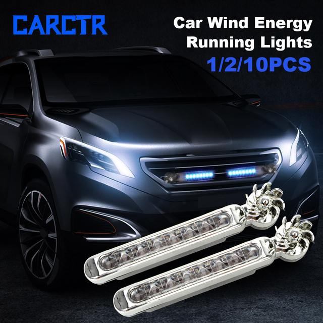 CARCTR 1 para energii wiatru światła do jazdy dziennej nowy 8led motocykl oszczędzania energii nie ma potrzeby zewnętrznego zasilania dekoracji akcesoria