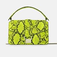 custom snake skin print leather ladies python snakeskin crossbody bag women handbags purse