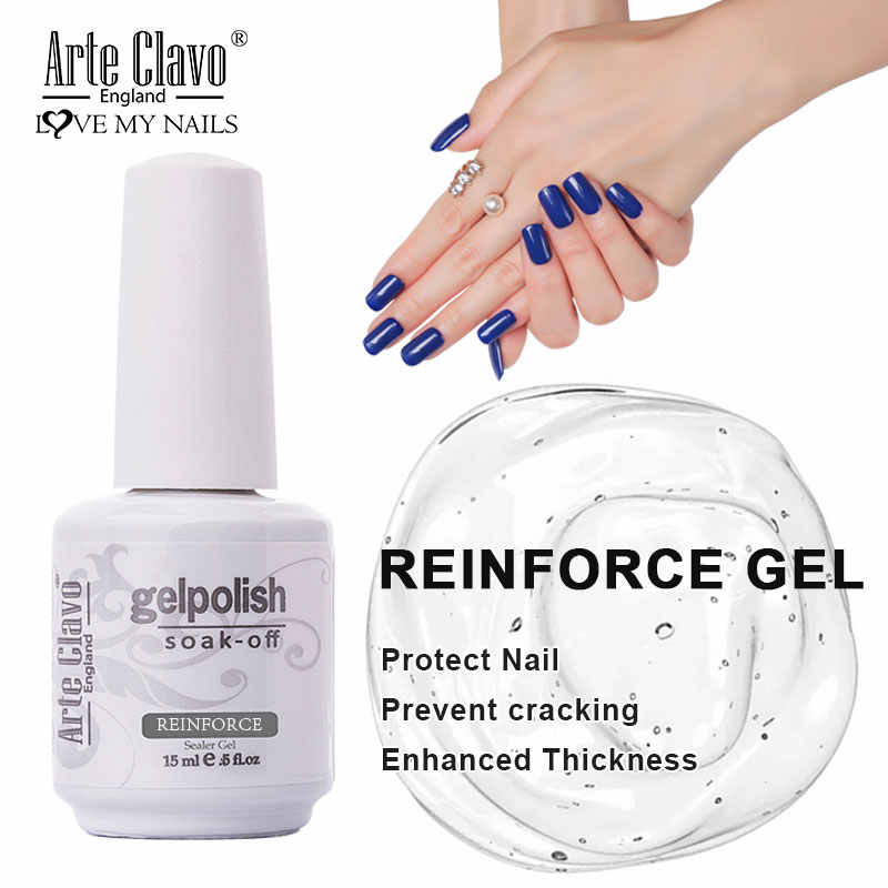15Ml UV LED Rendam Off Base Coat Gel Penambah Pernis Kuku Gel Polandia Matte Top Coat Super Glossy Tidak Ada lap Top Coat Memperkuat Gel