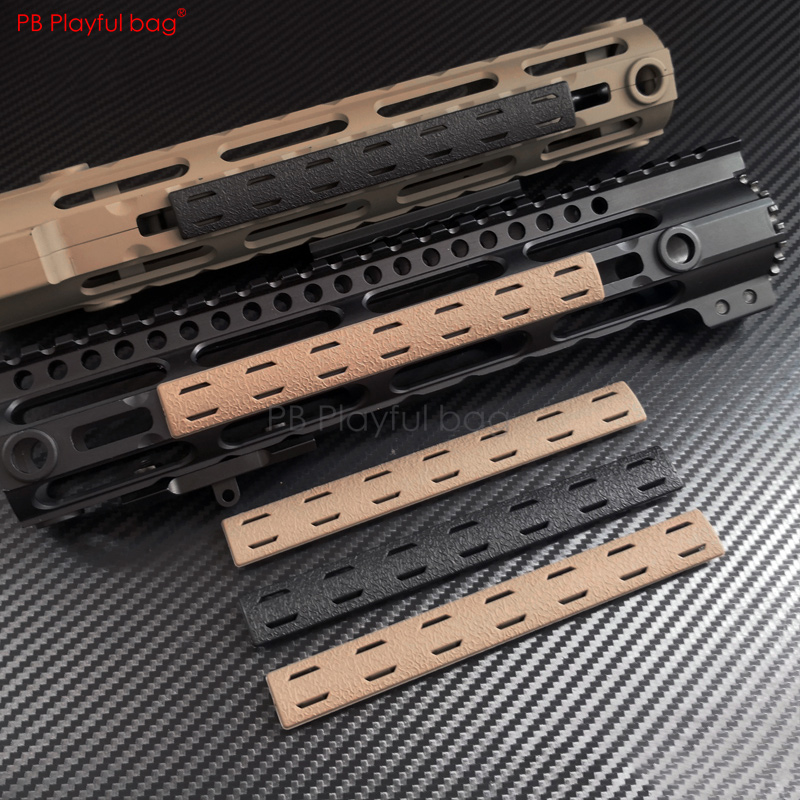 Playful Bag Outdoor CS BCM Handguard Nylon Protect Wood Strip M-LOK Wood Chip MI Guide Rail Board Lucas Rubber Strip Parts QE58
