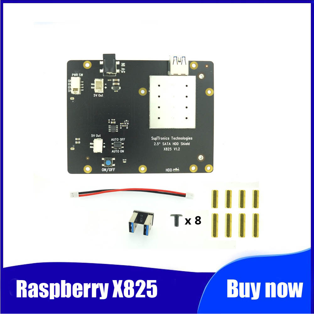New Version! Raspberry X825 2.5 Inch SATA HDD/SSD Storage Expansion Board For Raspberry Pi 4B ( 4 Model B )