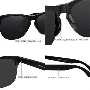 Image 5 - KDEAM Lifestyle Mens Sunglasses Polarized Driving Sun Glasses for Women TR90 Semi rimless Frame Ultra Light Shades