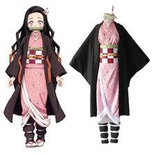 Fantasia demon slayer kimetsu no yaiba kamado nezuko, exposição de roupas, apresentação anual para halloween