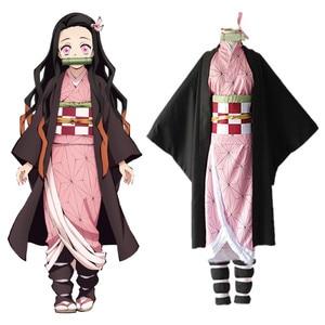 Image 1 - קוטלת שד Kimetsu לא Yaiba קאמאדו Nezuko קוספליי בגדי תערוכת כנס שנתי ביצועי ליל כל הקדושים cosplay תלבושות