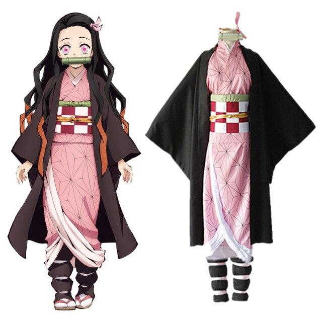 קוטלת שד Kimetsu לא Yaiba קאמאדו Nezuko קוספליי בגדי תערוכת כנס שנתי ביצועי ליל כל הקדושים cosplay תלבושות