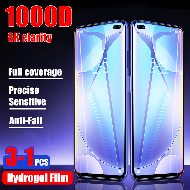 3Pcs 1000D Hydrogel Film Full Cover For Xiaomi Redmi Note 8 7 Pro 8T Front Film For Redmi 8 8A K20 K30 Pro Screen Protector Film image