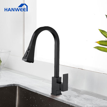 Black Kitchen Faucets Pull Out Kitchen Tap  Single Handle Single Hole Handle Swivel 360 Degree Water Mixer Tap Water Mixer kitchen faucets silver single handle pull out kitchen sink tap single hole handle swivel 360 degree rotation water mixer tap