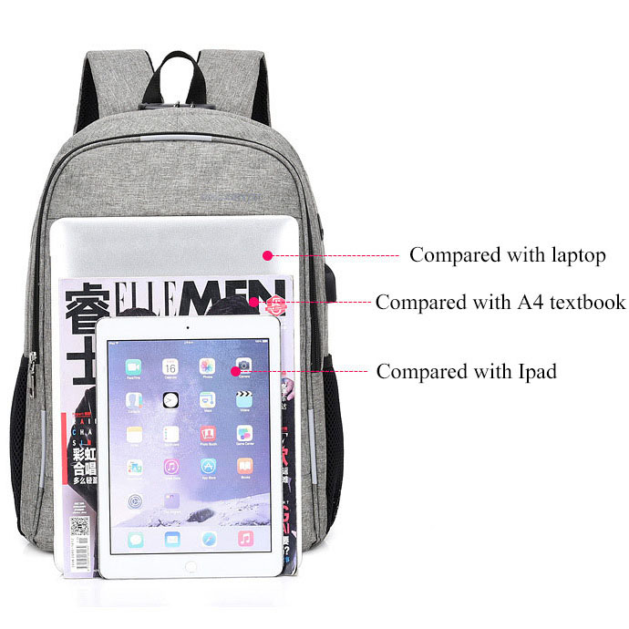 Image 3 - Anti Theft Man Backpack USB Charged laptop Large bagpack Travel Bag For Men School Student Boy girls mochila hombre 2019-in Backpacks from Luggage & Bags