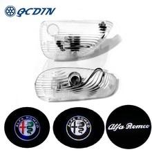 Qcdin Alfa Romeo Led Auto Deur Logo Licht Welkom Licht Led Instapverlichting Voor Alfa Romeo 147 Gt Alle Auto modellen